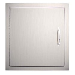YXHARD Outdoor Kitchen Door, 304 Stainless Steel 18″ Wx 20″ H Single BBQ Access Door ...