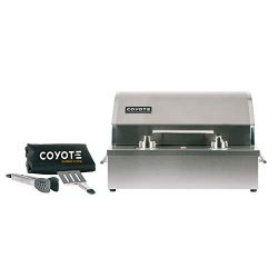 Coyote C1EL120SM 19″ Electric Grill with 156 sq. in. Cooking Area 5000 Hour Heating Elemen ...