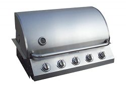 Diamondback New & Improved Built-in Grill 5 Burner Propane LP Natural Gas 32″ Drop Sta ...