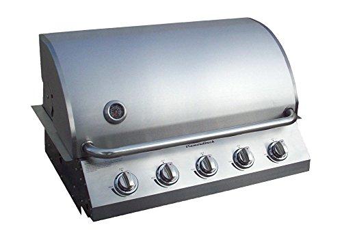 Diamondback New & Improved Built-in Grill 5 Burner Propane LP Natural Gas 32″ Drop Sta ...