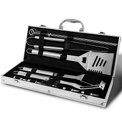 Monbix Professional BBQ Accessories Tool Set,Stainless Steel Grill Accessories Set,BBQ Accessori ...