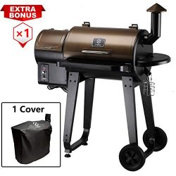 Z GRILLS Wood Pellet Grill & Smoker with Digital Temperature Controls, 450 sq. in. Cooking C ...