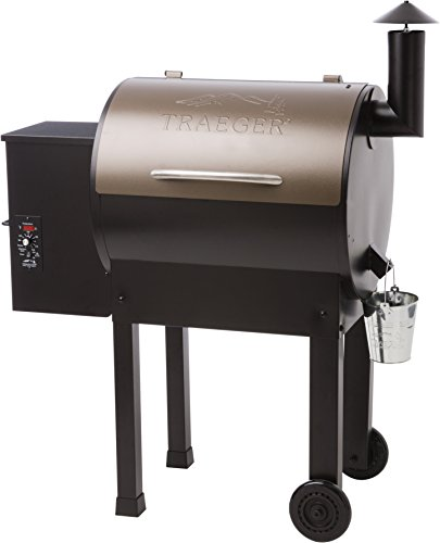 Traeger TFB42LZB Lil Tex Elite 22 Grill and Smoker 418 Sq. in. Cooking Capacity, Bronze