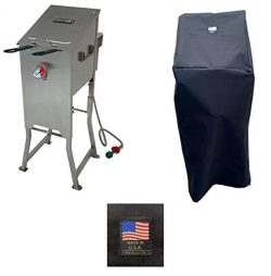 Bayou Classic 700-701 Canvas Cover 5004 Full Length Custom Made For 4 Gallon Deep Fryer Protecti ...