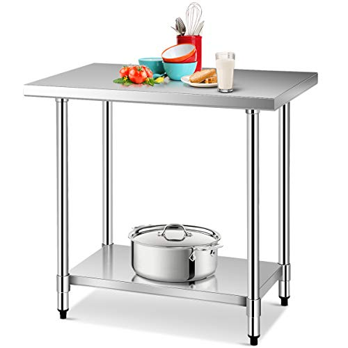 Giantex 24″ X 36″ Stainless Steel Commercial Kitchen Work Food Prep Table