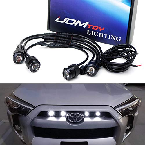 iJDMTOY 4pc Raptor Style 3W High Power LED Grille Lighting Kit For Toyota FJ Cruiser 4Runner Tac ...