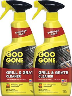 Goo Gone Grill and Grate Cleaner (2 Pack) Cleans Cooking Grates and Racks – 24 Ounce