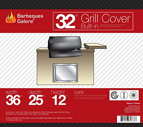 Barbeques Galore 32″ Universal Cover for Built-in Grill