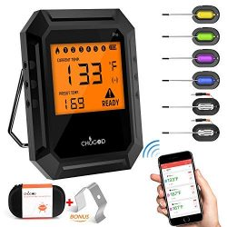 Nobebird Meat Thermometer Bluetooth, BBQ Thermometer Smart Cooking Bluetooth Thermometer with 6  ...