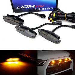 iJDMTOY 3pc Set Front Grille Lighting Kit For 2014-up Toyota 4Runner w/TRD Pro Grill ONLY, Inclu ...