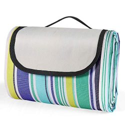 MiToo Extra Large Picnic & Outdoor Blanket Great for Camping, Outdoor Blanket with Backing f ...