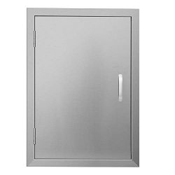 APWONE Outdoor Kitchen Access Doors Single BBQ Island 304 Stainless Steel Door Cabinet Door Flus ...