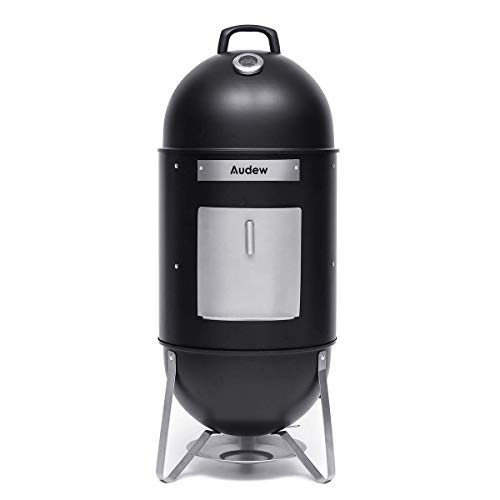 Audew Charcoal Smoker Grill 18-Inch Vertical Combo Water Grill BBQ Heat Control Outdoor Picnic C ...