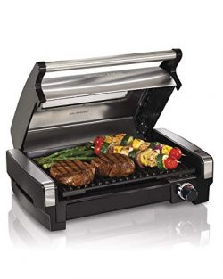 Hamilton Beach 25361 Electric Indoor Searing Grill with Removable Easy-to-Clean Nonstick Plate,  ...