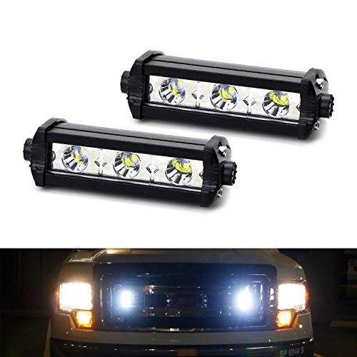 iJDMTOY (2) High Power 3-CREE LED Daytime Running Light Kit For Behind The Grille or Lower Bumpe ...