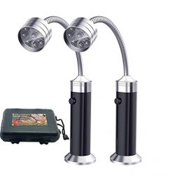 JHS-TECH Barbecue Grill Light Magnetic Base Super-Bright LED BBQ Lights – 360 Degree Flexi ...