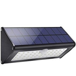 2019 Newest! Licwshi 1100lm Solar Outdoor Lights 4500mAh Black Aluminum Alloy 120° Infrared Moti ...