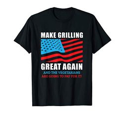 Funny Make Grilling Great Again Trump BBQ Pit Master Dad T-Shirt