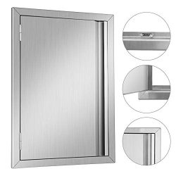 MorNon BBQ Access Door 304 Stainless Steel Outdoor Kitchen Doors for Grilling Station, Outside C ...