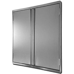 CIOGO Outdoor Kitchen Cabinets 17×24 Inch Double Wall BBQ Doors, 304 All Brushed Stainless  ...