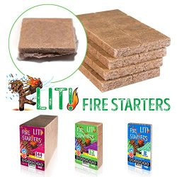 STEICO LIT Fire Starter for Lighting of Charcoal – logs – BBQ – Grill –  ...