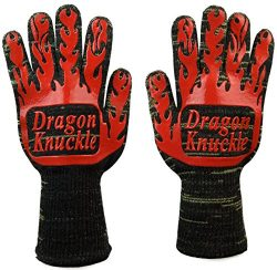 Dragon Knuckle Heat Resistant BBQ Gloves Oven Mitts EN 407 932ºF – Grilling Barbecue Charc ...