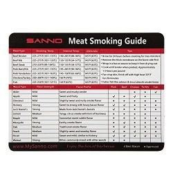 SANNO Meat Smoking Guide with Magnet for Grill or Refrigerator, Best Barbecue Grilling Accessori ...