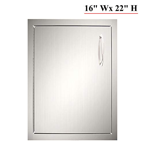 YXHARD Outdoor Kitchen Door, 304 Stainless Steel 16-2/5″Wx 22-1/2″H Single BBQ Acces ...