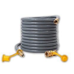 Houseables Propane Hose, Natural Gas Replacement, 3/8 Inch Outlet, 24 Feet, 50000 BTU/Hour, for  ...