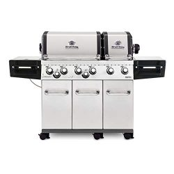 Broil King 957347 Regal XLS Pro NG Gas Grill, Six-Burner, Stainless Steel (Renewed)