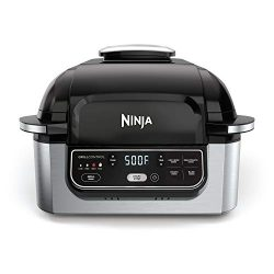 Ninja Foodi 5-in-1 4-qt. Air Fryer, Roast, Bake, Dehydrate Indoor Electric Grill (AG301), 10R ...