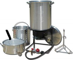 King Kooker 1265BF3 Portable Propane Outdoor Deep Frying/Boiling Package with 2 Aluminum Pots (R ...