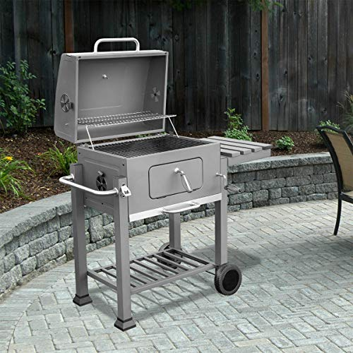 XtremepowerUS Deluxe Charcoal Grill Large Station Outdoor Backyard BBQ Grill Barbecue Grill Stov ...