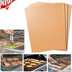 BBQ Grill Mat for Grilling and Baking, Grill & Bake Mats 5Pcs , Non Stick BBQ and Baking Mat ...