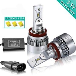 iBrightstar H11 LED Headlight Bulbs High Low Beam 8,000lm for Silverado Malibu Colorado Tacoma T ...