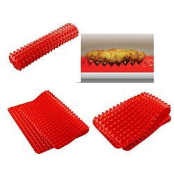 BBQ Grill Mat for Grilling and Baking, Grill & Bake Mats, Non Stick BBQ and Baking Mat Reusa ...