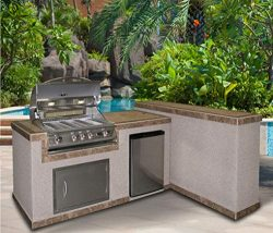 Cal Flame e6026-Z Metador e6026 Outdoor BBQ Kitchen Island, Earth Tone