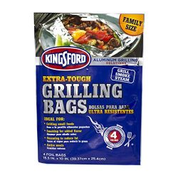 Kingsford Extra Tough Aluminum Grill Bags, For Locking in Flavors & Easy Grill Clean Up, Rec ...