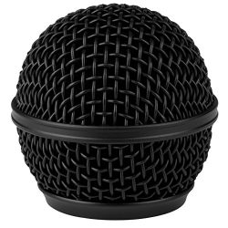 Talent DM-RGB Black Microphone Ball Head Mesh Grill for Shure SM58 BETA58 SM58LC SV100 RK143G PGX2