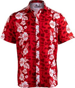 Meats in The Sun | Funny BBQ Grilling Hawaiian Button Down Polo Party Shirt Men-(Collar,M)
