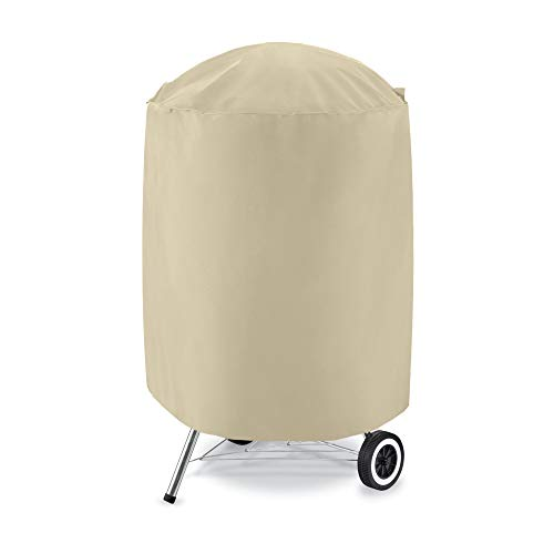 UNICOOK Outdoor Kettle Grill Cover Small, 600D Heavy Duty Round Smoker Cover 23″ Dia x 25& ...