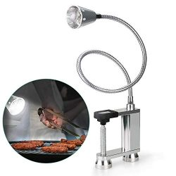 Jhua BBQ Grill Light 12 LED Super Bright, 24 inch Long Flexible Neck Attaches Clip On Outdoor Ba ...