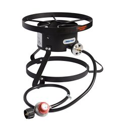 Leaderware Single Burner Camping Cooker, Iron Camping Stove with Stand, Outdoor High-Pressure Ga ...