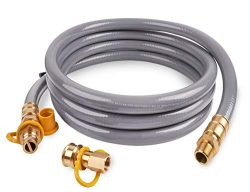 SHINESTAR 15 Foot 3/4inch ID Natural Gas Hose with Quick Connect/Disconnect Fittings for Generat ...