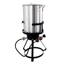 Chard TFP30A Aluminum Turkey Fryer Pack, 30 Quart (Renewed)