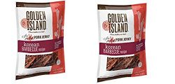 Golden Island (2 Pack) Fire Grilled Pork Jerky Korean Barbecue Receipe – 14.5 Oz Each