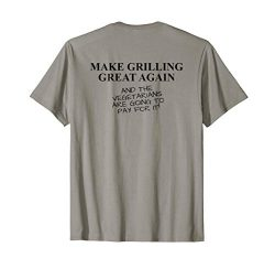 Funny BBQ Grill Accessory Pitmaster Gift Dad Men Back Print