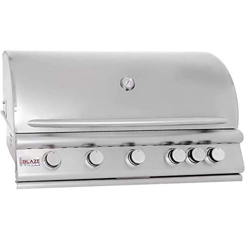 40″ 5-Burner Built-In Gas Grill with Rear Infrared Burner Gas Type: Natural