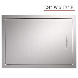 YXHARD Outdoor Kitchen Door, 304 Stainless Steel 24″ Wx 17″ H Single BBQ Access Door ...