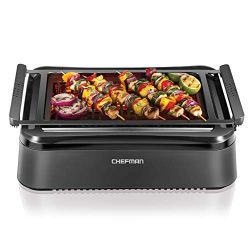 Chefman Electric Smokeless Indoor Infrared Instant Heating Technology Adjustable Temperature Kno ...